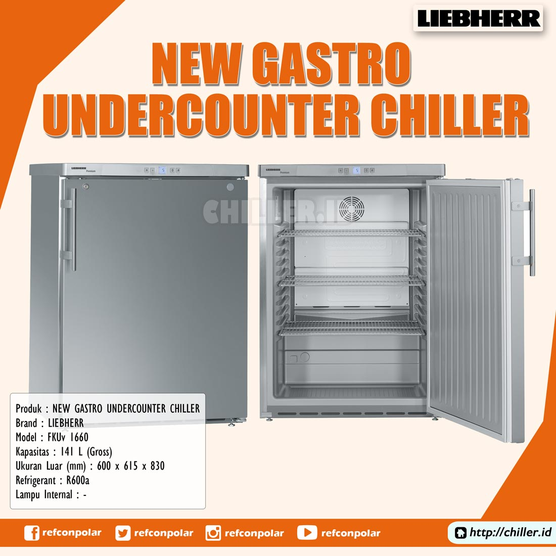 Jual FKUv 1660 New Gastro Undercounter Chiller Units