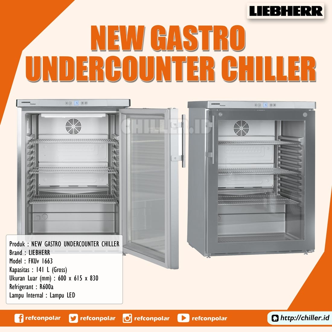 Jual FKUv 1663 New Gastro Undercounter Chiller Units