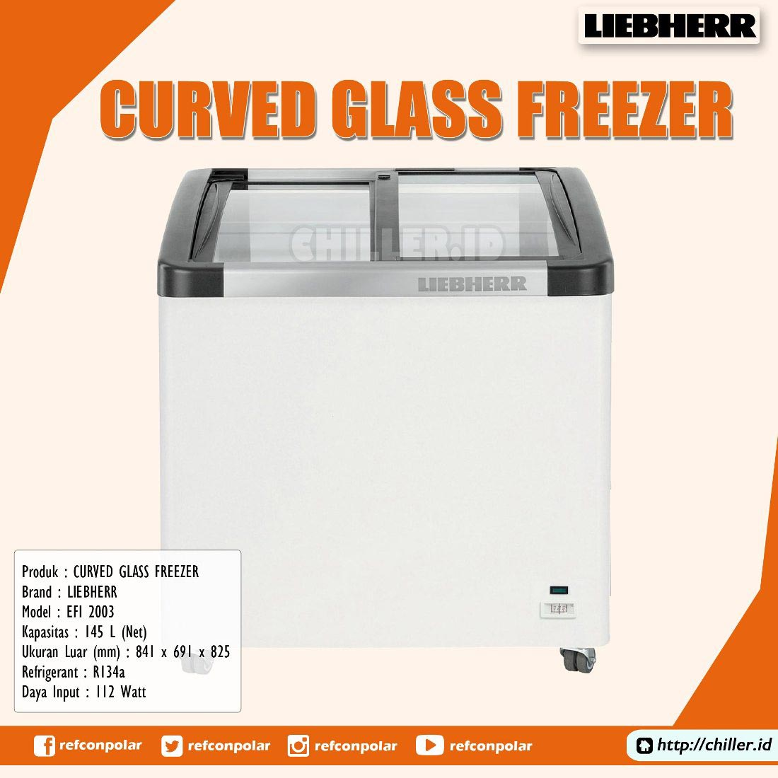 EFI 2003 Liebherr Curved Glass Freezer