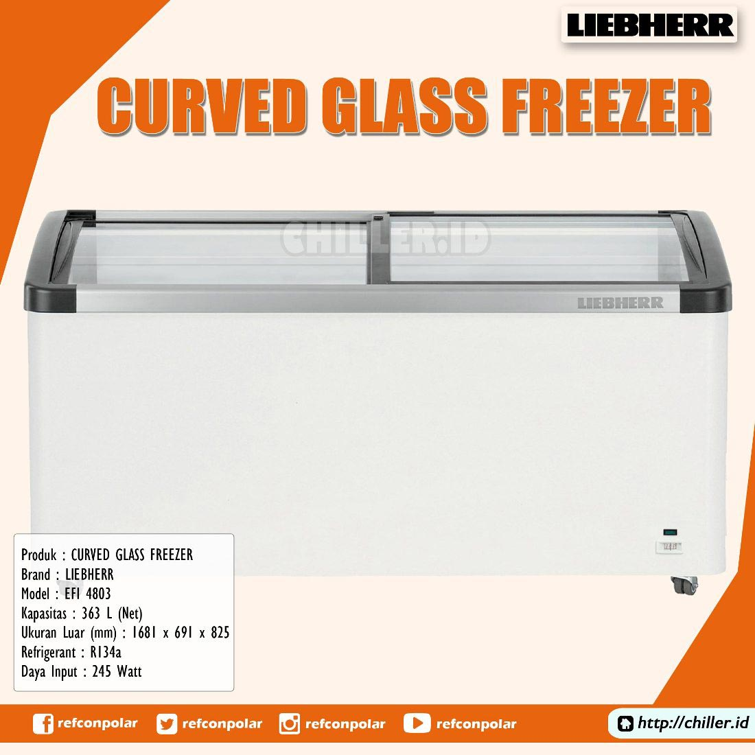 EFI 4803 Liebherr Curved Glass Freezer