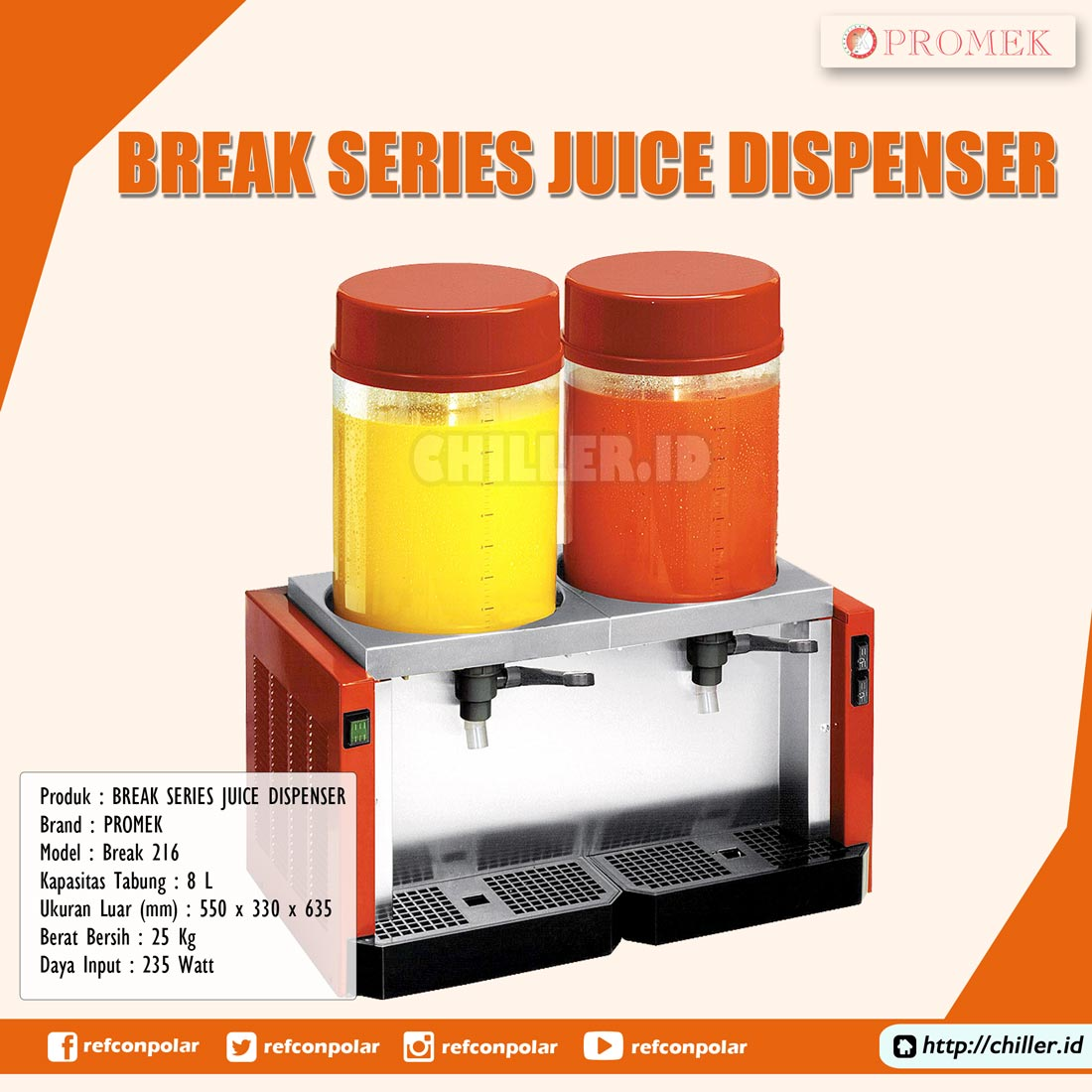 Break 216 Promek Break Series Juice Dispenser