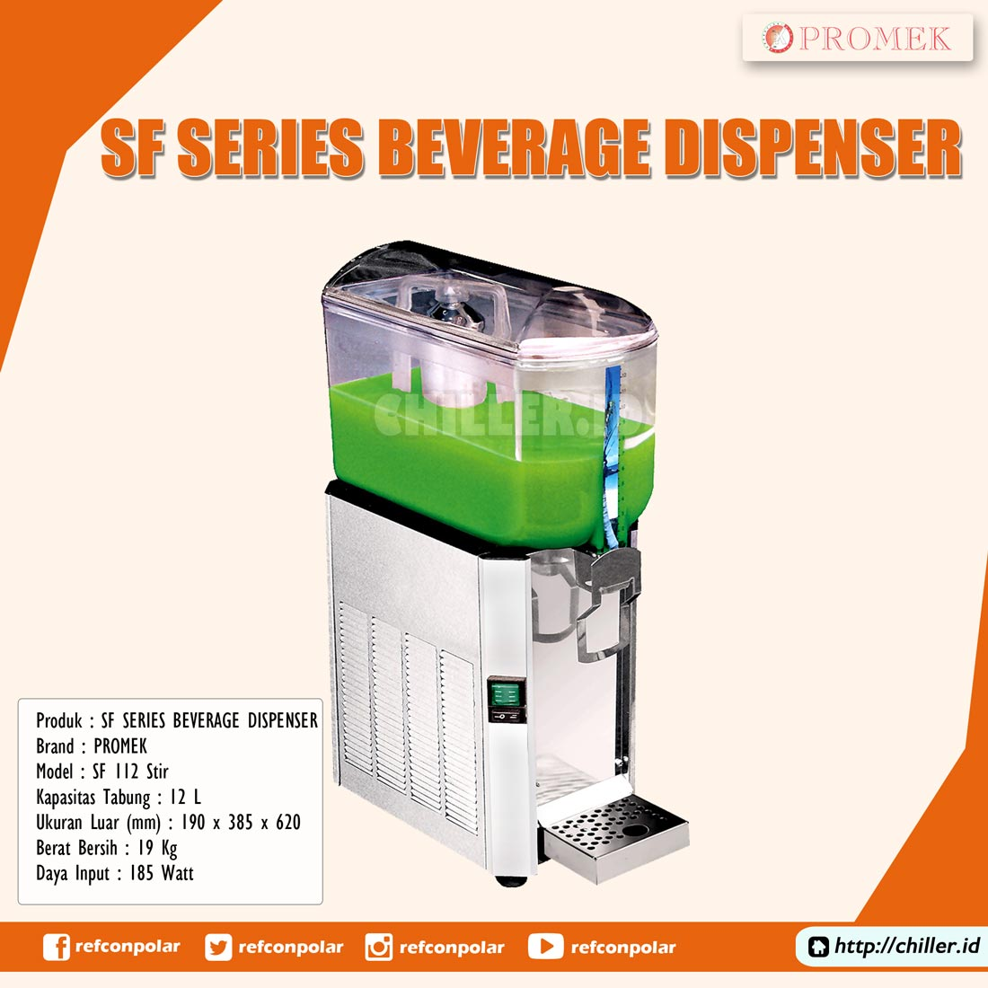 SF 112 Stir Promek SF Series Beverage Dispenser