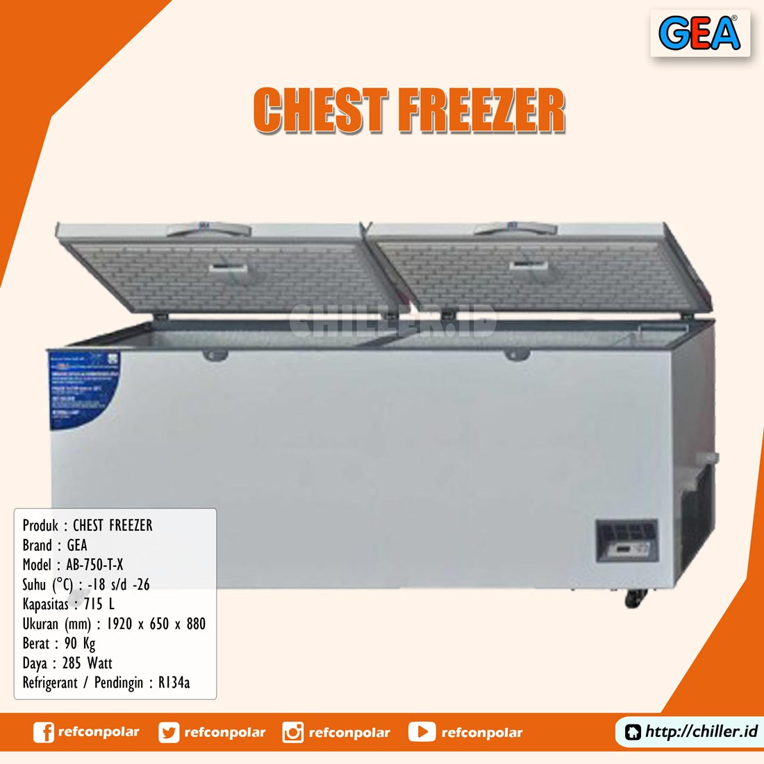 AB-750-T-X GEA Chest Freezer