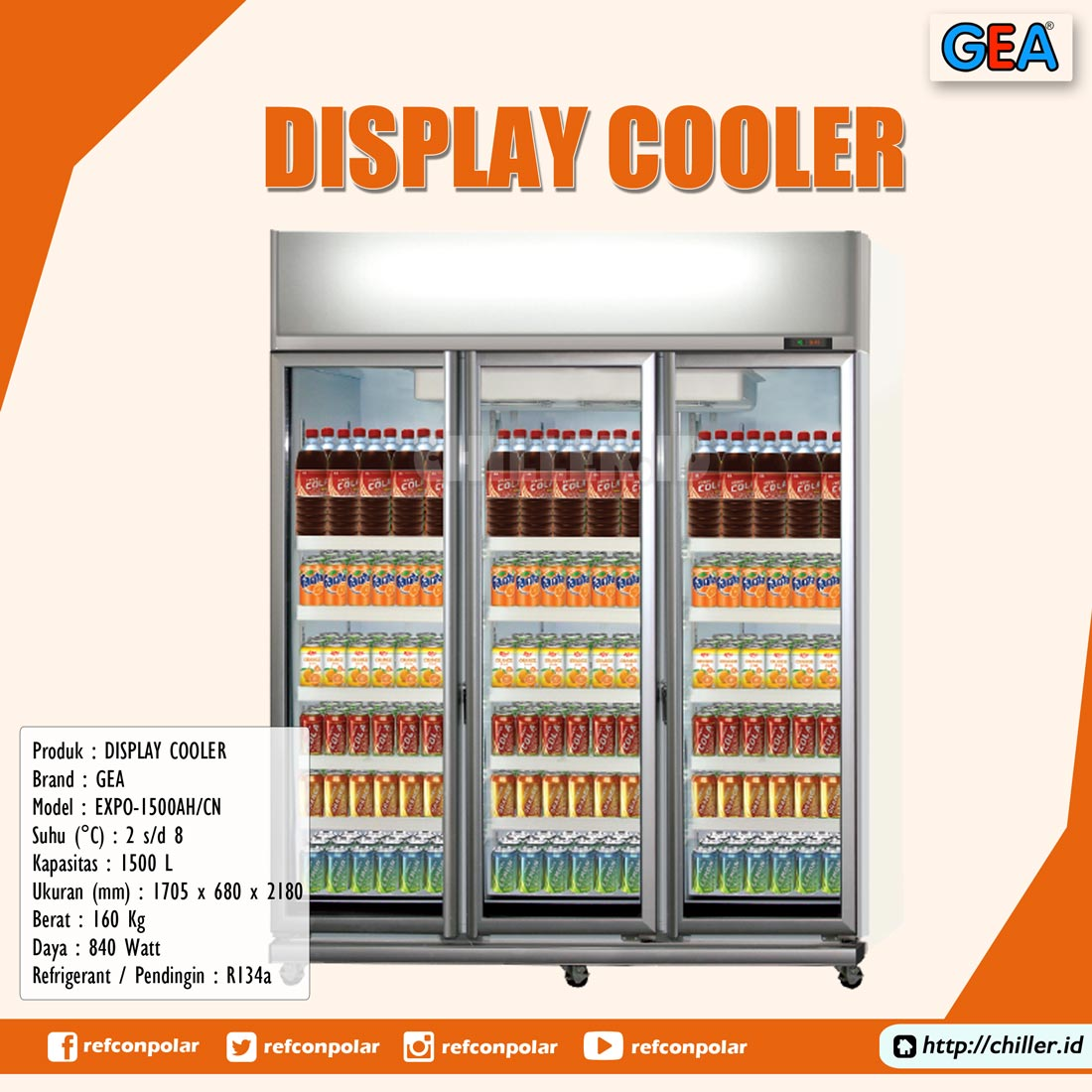 EXPO-1500AH/CN GEA Display Cooler