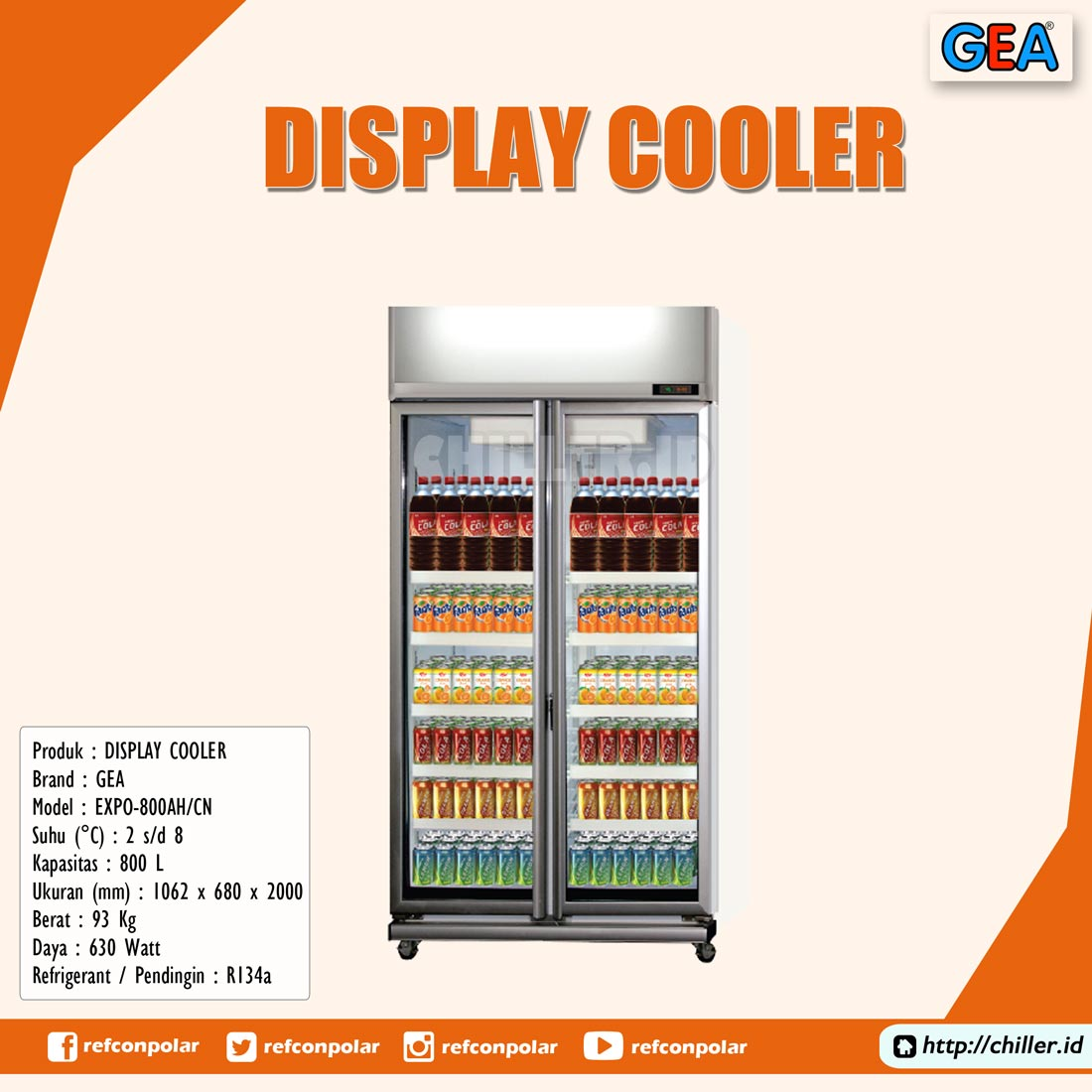 EXPO-800AH/CN GEA Display Cooler