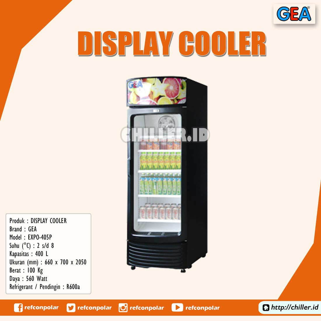 EXPO-405P GEA Display Cooler