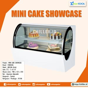 QR530A (Oval) STARCOOL Mini Cake Showcase