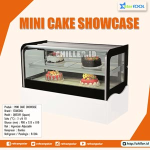 QR530V (Square) STARCOOL Mini Cake Showcase