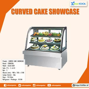 SCLG4-205F STARCOOL Curved Cake Showcase