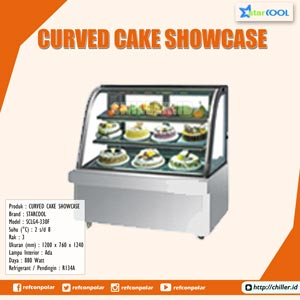 SCLG4-330F STARCOOL Curved Cake Showcase