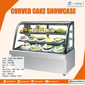 SCLG4-400F STARCOOL Curved Cake Showcase