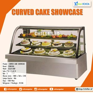 SCLG4-500F STARCOOL Curved Cake Showcase