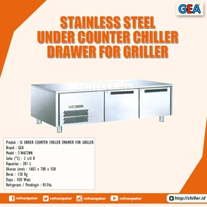 T-W6T2NN GEA Stainless Steel Under Counter Chiller Drawer for Griller