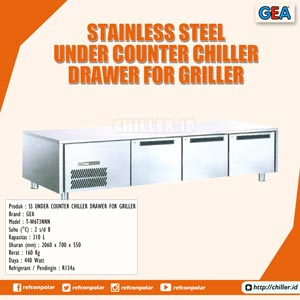 T-W6T3NNN GEA Stainless Steel Under Counter Chiller Drawer for Griller