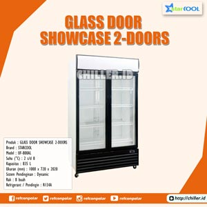 UF-800AL STARCOOL Glass Door Showcase 2 Doors / 2 Pintu