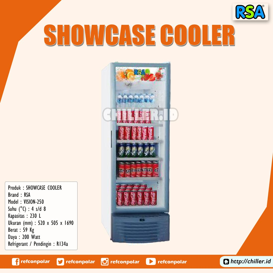 Vision-250 RSA Showcase Cooler